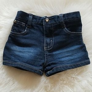 Toddler Girl's Dark Wash Kensie Denim Shorts sz 3T